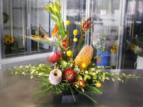 trpoical floral arrangement